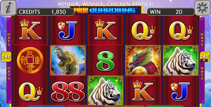 four guardians slot credit