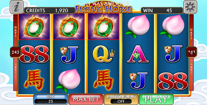 holiday palace flying horse ex games